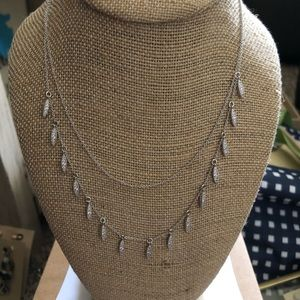 Chloe + Isabel Pave 2 row necklace